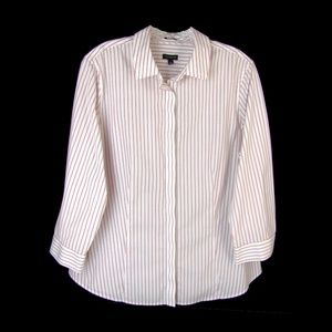 Talbots Wrinkle Resistant Stretch Cotton Shirt 14